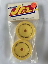 Vintage Team Losi A-7013 Front Wheels Logo Rims. Bright Yellow JrX2 Jr2 JRXPRO
