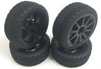 20133 1/10 On Road Soft Tread Car RC Wheels and Tyres 10 Spoke Black x 4