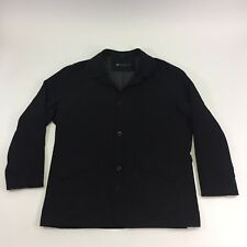 Kenneth Cole Reaction Mens Jacket All Weather Button Front Black Size XL Lined