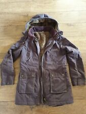 Ladies Boden Brown Hooded Parka Coat Size UK8 Vgc
