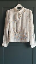 ANTHROPOLOGIE Embroidered Blouse by Geisha Designs UK 8  RRP £118.00