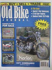 Old Bike Journal Magazine October 1994 Norton 1971 Commando Honda 750