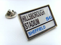 Sheffield weds Stadium Señal de calle pin de solapa regalo