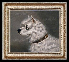 Skye Terrier Dog Miniature Dollhouse Picture