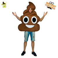 Men's Poop Costume Adult Poop Emoticon Jumpsuit For Carnival Party Costume