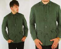 Vintage 1960s Faded Green Chore Work Jacket