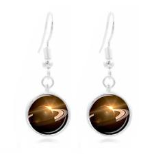 Venus Tibet Silver Dome Photo Art 16Mm Glass Cabochon Long Earrings~158