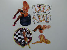 Retro Aufkleber 6er Set  Oldschool Pin up Sticker / Girls / Strip / Pinup & Lady