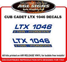 Cub Cadet LTX 1046 Lawn Tractor Reproduction Decals