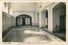 REAL PHOTO POSTCARD SWIMMING POOL, NATURAL BATHS, BUXTON, DERBYSHIRE BY BOARD