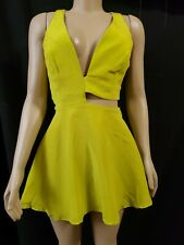 Naven Green With shades of yellow Cutout Sexy Women's Dress Size Small?