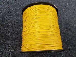 YELLOW 24 AWG Gauge Stranded Hook Up Wire Kit 100 FT REEL UL1007 300 Volt