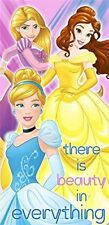 "Disney Princess Cinderella, Belle, and Rapunzel  Beach Towel 100% Cotton 28""X58"""