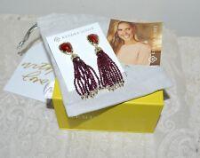 NWT $125 KENDRA SCOTT Blossom Fringe Drop Earrings Bordeaux Gold Plated