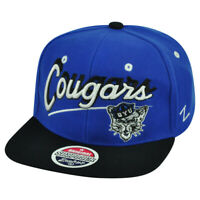 NCAA Zephyr BYU Brigham Young Cougars Shadow Script Snapback Flat Bill Hat Cap