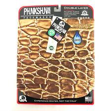 Phunkshun Wear Fleece Neck Tube Infinity Scarf Snake Skin Animal Print Brown OS