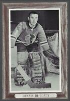 1964-67 Beehive Group III Photos Chicago Blackhawks #32 Denis DeJordy