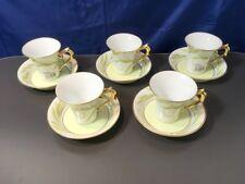Bernardaud Limoges Frivole Set 5 coffee cup & saucer NEW IN BOX - 40%