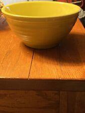 Vintage Ceramic Pottery Mixing Bowl Ribbed Green #18 USA