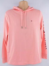 TOMMY HILFIGER Men's Long Sleeve Hooded Top, Peach, size XL