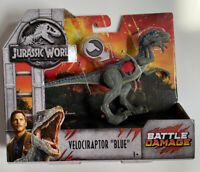"Mattel Jurassic World Battle Damage Dinosaur - Velociraptor ""Blue"""