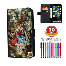 Alice In Wonderland Mad Hatter Flip Phone Case Cover for iPhone Samsung Huawei