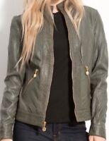 Betsey Johnson Genuine Leather L jacket New