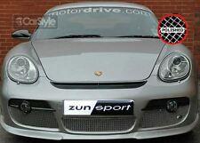 ZunSport Porsche Cayman 987.1 Polished Steel Mesh Full Front Grille Set -Man/Tip