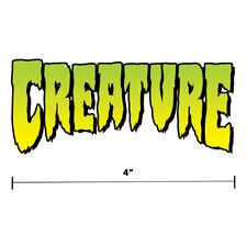 """Creature Skateboards Main Logo Sticker Diecut Decal 4"""" x 2"""" Green Monster"""
