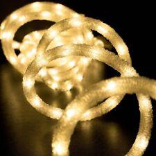 West Ivory 18' ft Warm WHITE LED Snow Rope Stripe Light 120V Indoor/Outdoor ETL