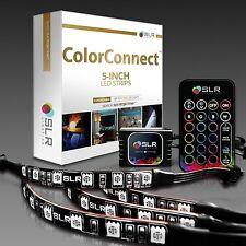 4Pcs LED Kitchen Under Cabinet Light Strip RGB SMD Kit IR Remote 12V Power New