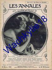 Les annales n°2051 du 15/10/1922 Chien-loup Costumes Quercy Marie-Thérèse