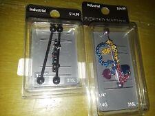 Pierced Nation 14g 316l lot of 2 ear jewelry