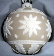 Wedgwood Neo Classical Ball Ornament Taupe Tan/White Relief Porcelain Jasper New