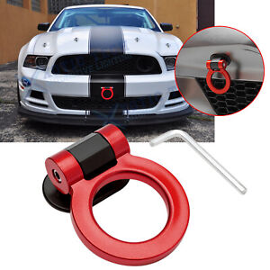 For Ford Mustang ABS JDM Red Track Sporty Style Tow Hook Ring Bumper Decoration