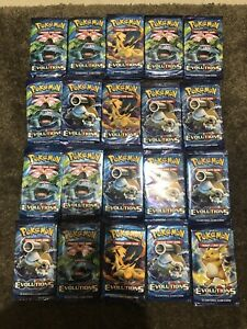 Lot Of 20 Pokémon TCG: XY Evolutions Booster Packs - Unweighed Untampered