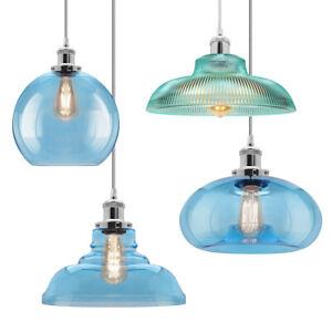 Vintage Glass Globe Ceiling Hanging Pendant Light Shade Coloured Style Lighting