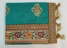 Bollywood Banarasi Border Designer Saree Indian Raw Silk Sari Bridal Party Dress