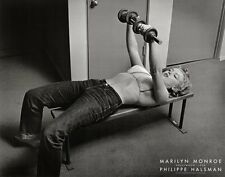 Marilyn Monroe with Weights, 1952 Philippe Halsman Art Print Poster Gym Lifting