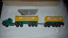 Lesney Matchbox KING SIZE K-16 Dodge Tractor w/Twin Tippers w/box