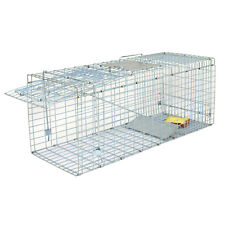"""Durable Steel Humane Animal Trap 32""""x12.5""""x12 34; Smoothed Inside Safe For Rodent"""
