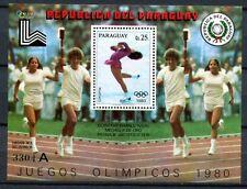 Paraguay 1979 Olympiade Olympics Lake Placid 1980 Block 338 Postfrisch MNH