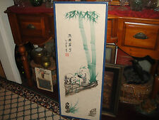 Superb Chinese Painting Of Panda Bears-Signed & Stamped-Large Painting-LQQK