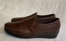 SAS Women's Split Toe Stitch Comfort Work Brown Slip On Shoes USA Size 8.5 Ny