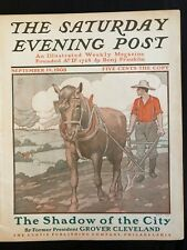 Illustrated  Saturday Evening Post September 19, 1903 J. J. Gould Farm Cover Art