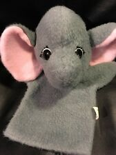 Vtg Animal Fair Gray Elephant Puppet Plush Bernie? 1977
