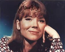 DIANA RIGG, ACTRESS EMMA PEEL THE AVENGERS HEAD SHOT AUTOGRAPH PHOTO  W/COA 8X10
