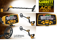 "Garrett Ace 300 Metal Detector & 7 x10"" DD Waterproof Coil, Free shipping"