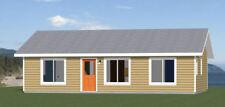 36x24 House -- 3 Bedroom 2 Bath -- 864 sq ft -- PDF Floor Plan -- Model 5