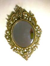 Vintage Art Nouveau Oval Beveled Hanging Mirror